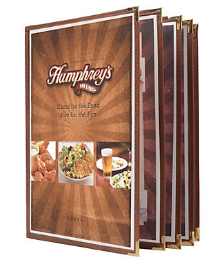 10 View Book Style Cafe Menu Covers Kng Com