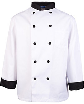 Executive Chef Coat with Black Contrast