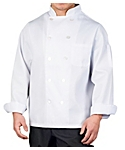 Men's White Classic Long Sleeve Chef Coat