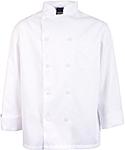Men's White Classic Long Sleeve Chef Coat