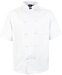 Men's White Classic Short Sleeve Chef Coat