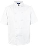 Men's White Classic Short Sleeve Chef Coat