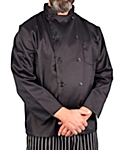 Men's Black Classic Long Sleeve Chef Coat