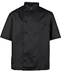 Men's Black Classic Short Sleeve Chef Coat