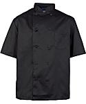 Men's Black Classic Short Sleeve Chef Coat