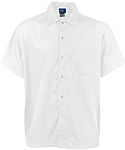Lightweight Snap Front Cook Shirt, White