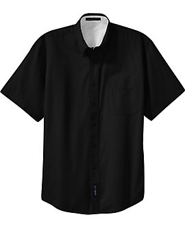 Mens Wrinkle Resistant Dress Shirt, Short Sleeve