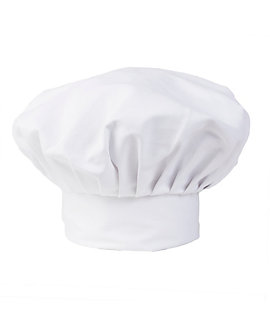 White Chef Hat, 13 inch