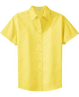 Womens Wrinkle Resistant Dress Shirt, Short Sleeve