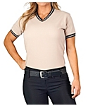 Womens Pique Knit Sport Shirt, Clearance