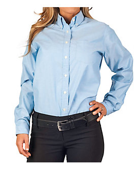 KNG® Womens Long Sleeve Oxford Shirt, Clearance