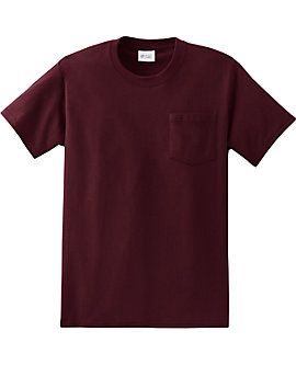 Heavyweight Unisex T Shirt with Pocket, 6.1oz