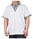 Checkered Trim Cook Shirt