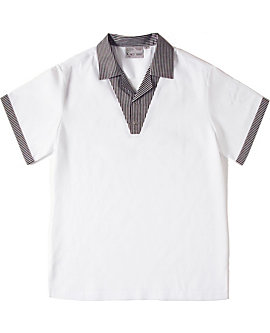 Checkered Trim Cook Shirt