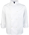 White Value Long Sleeve Chef Coat