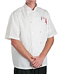 White Value Short Sleeve Chef Coat