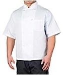 White Value Short Sleeve Chef Coat