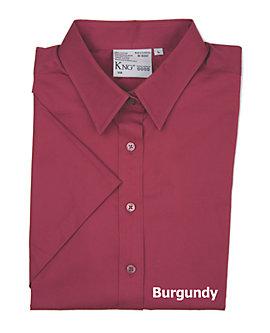 Womens Teflon Dress Shirt, Short Sleeve, Clearance