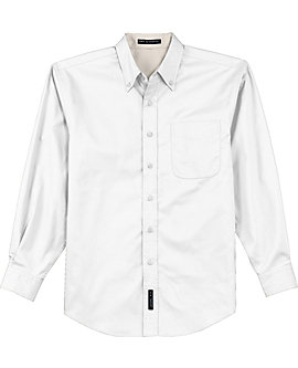 Mens Wrinkle Resistant Dress Shirt, Long Sleeve, Tall Sizes
