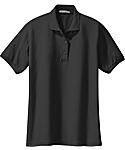 Womens Soft Touch Pique Sport Shirt, Short Sleeve