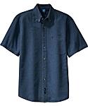 Mens Denim Shirt, Short Sleeve
