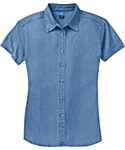 Womens Denim Shirt, Short Sleeve