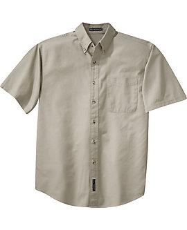 Mens Twill Shirt, Short Sleeve