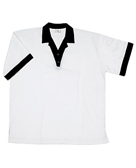 Off-White Cook Shirt with Black Trim, Clearance