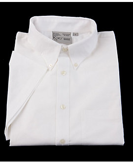 Mens Oxford Short Sleeve Shirt, Clearance