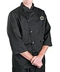 Black ¾ Sleeve Chef Coat