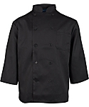 Men's Black Classic ¾ Sleeve Chef Coat