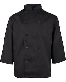 Men's Black Classic ¾ Sleeve Chef Coat