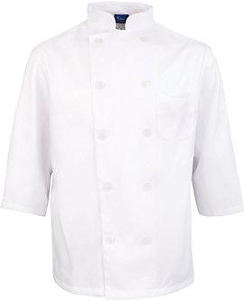 Men's White Classic ¾ Sleeve Chef Coat