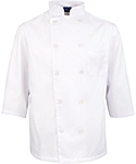 Men's White Classic ¾ Sleeve Chef Coat