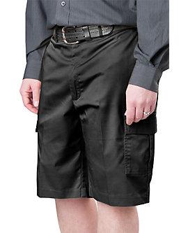 Mens Flat Front Cargo Shorts
