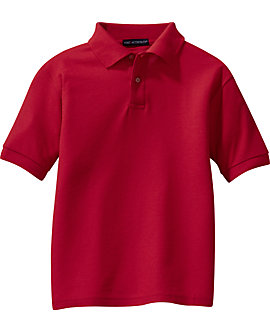 Youth Soft Touch Pique Sport Shirt, Short Sleeve