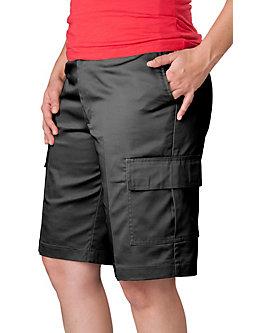 Womens Flat Front Cargo Shorts