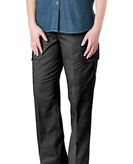 Womens Flat Front Cargo Pants