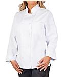 Women's White Classic Long Sleeve Chef Coat
