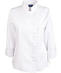 Women's White Classic Long Sleeve Chef Coat