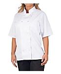 Women's White Classic Short Sleeve Chef Coat