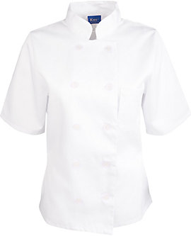 Women's White Classic Short Sleeve Chef Coat