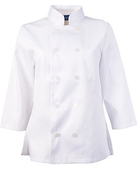 Women's White Classic ¾ Sleeve Chef Coat