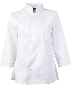 Women's White Classic ¾ Sleeve Chef Coat