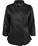Women's Black Classic Long Sleeve Chef Coat