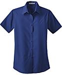 Womens Short Sleeve Lightweight Poplin Shirt