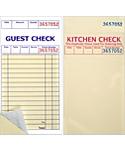 Padded, 3⅜ x 6½, 2 Part Guest Checks, Soft Sheet, per 5,000