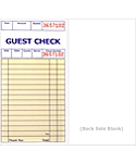 Padded, 3⅜ x 6½, 1 Part Guest Checks, Soft Sheet, per 5,000