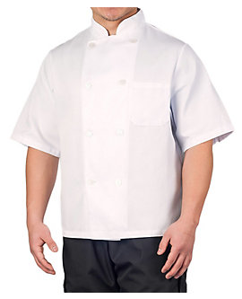 Off-White Value Short Sleeve Chef Coat, Clearance