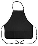 3 Pocket Adjustable Bib Apron, 27 inch Rounded Corners